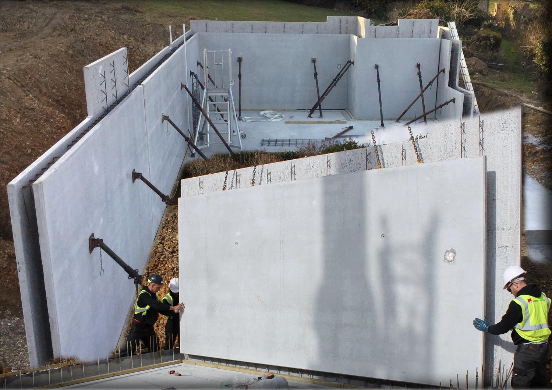 Twin wall installation cbs precast limited for Cbs concrete